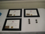 Here are the plaques recognizing those retirees being honored with a Gold Card, a nd pins for those with 30 years and 35 years of service.